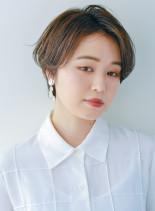 大人ハンサムショートスタイル(髪型ショートヘア)