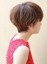 大人のマッシュショート☆ハイライト(髪型ショートヘア)