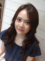 大人かきあげパーマ(髪型ロング)