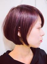 コンパクトなグラボブ(髪型ショートヘア)