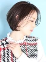 40代50代☆美しいひし形ショートボブ☆
