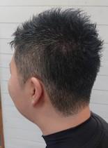 大人刈り上げショート(髪型メンズ)