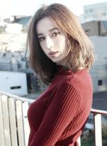 外国人風大人かわいいナチュラルミディ(髪型ミディアム)