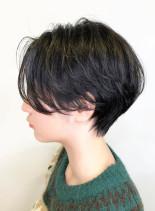 くびれショートカット(髪型ショートヘア)