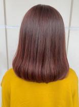 チェリーアッシュロブ(髪型ミディアム)