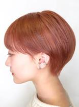 チェリーアッシュショートカット(髪型ショートヘア)