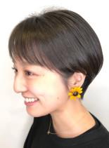 ふんわり丸みショートカット(髪型ショートヘア)
