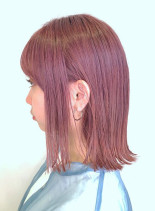 チェリーピンクロブ(髪型ボブ)