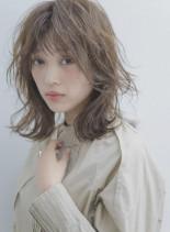 可愛い×小顔×おしゃれマッシュウルフ(髪型ミディアム)