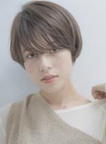 大人可愛い小顔マニッシュショート(髪型ショートヘア)