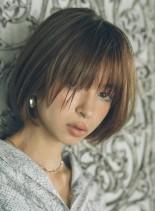 オトナクールボブ (髪型ショートヘア)