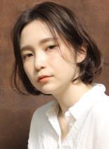 耳かけ☆大人ヌーディーボブ(髪型ボブ)
