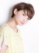 襟足スッキリ丸みショート(髪型ショートヘア)