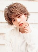 ウェットパーマショート(髪型ショートヘア)