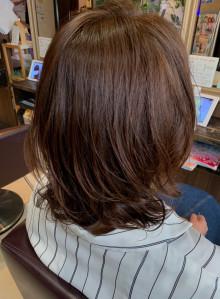 30代からの艶髪パーマ!ミディスタイル