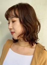 大人ミディ◆ウルフレイヤースタイル(髪型ミディアム)