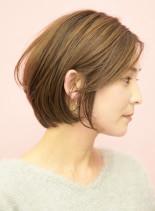手入れ簡単☆綺麗な大人ショートボブ(髪型ショートヘア)