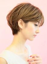 手入れ簡単☆愛され大人ショート(髪型ショートヘア)