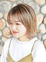 大人外ハネボブ ☆ シアベージュ(髪型ボブ)