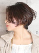 ベーシックくびれショートボブ(髪型ショートヘア)