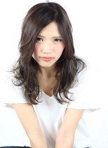アッシュイルミナヌード (髪型セミロング)