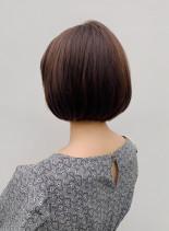 自然なストレートボブ(髪型ボブ)