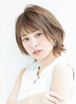オトナ可愛いショートボブ(髪型ショートヘア)