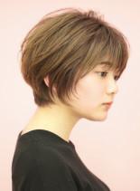 手入れ簡単☆小顔見えショートボブ(髪型ショートヘア)
