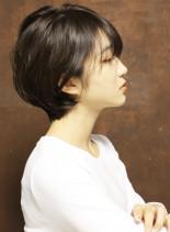 大人のひし形シルエットショート(髪型ショートヘア)