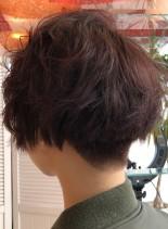 刈り上げショートボブ(髪型ショートヘア)