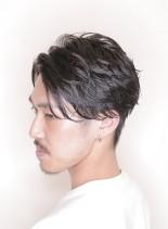 大人の色気爽やかナチュラルショート(髪型メンズ)