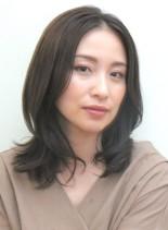 【アレンジ可】素敵な大人のレイヤーミディ(髪型ミディアム)