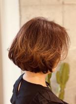 パーマボブの楽ちんスタイル(髪型ボブ)