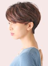 耳かけスッキリ丸みショート(髪型ショートヘア)