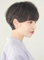 大人かわいいエアリー耳掛けショートヘア(髪型ショートヘア)