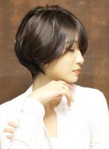 【大人気】美ひし形シルエットショート(髪型ショートヘア)