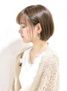 ショートボブと艶髪ブラウン(ビューティーナビ)