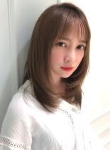 大人女子の抜け感ひし形レイヤーミディ☆(髪型ミディアム)