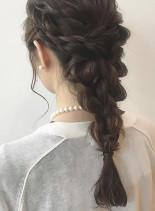 大人の編み下ろしアレンジスタイル(髪型ロング)
