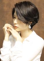 【大人女子】簡単キレイのツヤ感ショート(髪型ショートヘア)