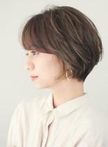 大人エアリーレイヤーショート(髪型ショートヘア)