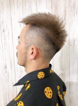 ワイルド刈り上げスタイル(髪型メンズ)