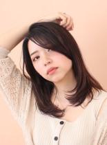 色っぽい大人セミディ(髪型セミロング)