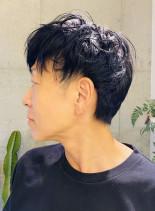 大人ふんわりパーマ(髪型メンズ)