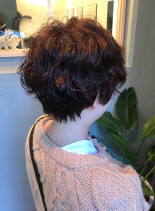 ショートパーマ(髪型ショートヘア)