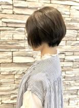 40代50代大人前下がりショートボブ(髪型ショートヘア)