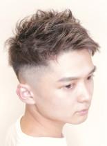 メンズショートフェードスタイル(髪型メンズ)