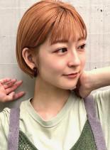 パツっとミニボブ◎(髪型ショートヘア)