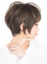 大人かわいい 小顔ショートヘア(髪型ショートヘア)