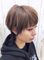 ハンサムウルフカット(髪型ボブ)